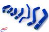 KAWASAKI KLX 450 R 2007-2016 HIGH PERFORMANCE SILICONE RADIATOR HOSES BLUE