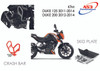 KTM 125 200 DUKE 2011-2014 AS3 ALUMINIUM SKID PLATE SUMP BASH GUARD