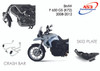 BMW F 650 GS 2008-2012 AS3 PERFORMANCE CRASH BARS GUARDS BLACK