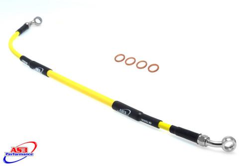 SUZUKI DRZ 400 S 2000-2012 AS3 VENHILL BRAIDED REAR BRAKE LINE HOSE YELLOW