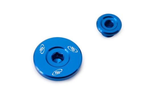 SUZUKI RMZ 250 2007-2020 RMZ 450 2005-2020 RMX 450 Z 2010-2019 ALUMINIUM ENGINE PLUG KIT BLUE