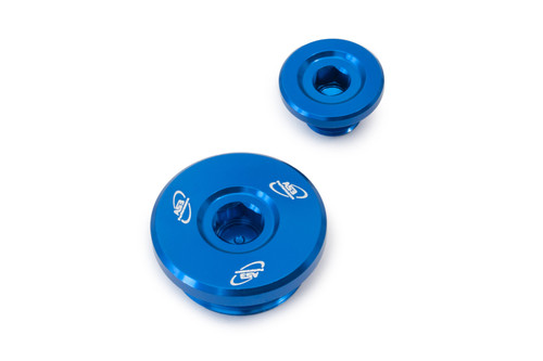 SUZUKI RMZ 250 2004-2006 ALUMINIUM ENGINE PLUG KIT BLUE