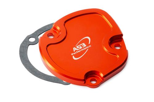 KTM 250 SX 2001-2006 250 EXC 2003-2006 300 EXC 2003-2007 AS3 POWER VALVE CONTROL COVER (LEFT) ORANGE