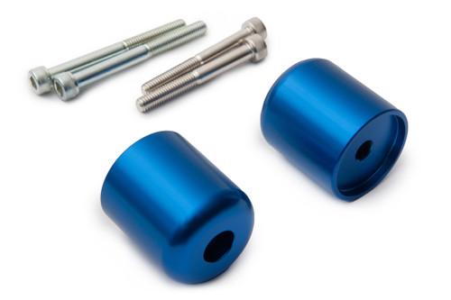SUZUKI DL 650 V-STROM 2004-2011 AS3 PERFORMANCE BAR END WEIGHTS BLUE
