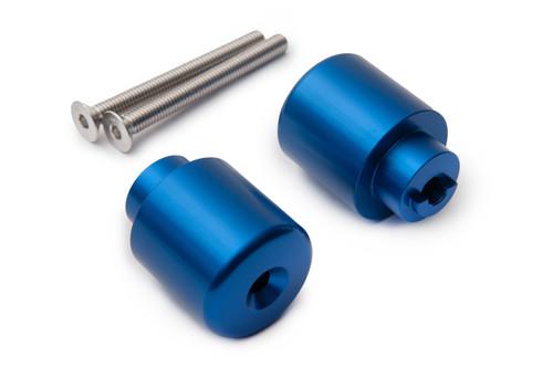 HONDA CB 600 900 HORNET CBF 600 1000 AS3 PERFORMANCE BAR END WEIGHTS BLUE