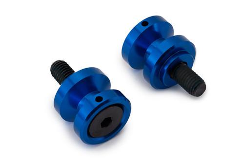 AS3 PERFORMANCE ALUMINIUM PADDOCK STAND BOBBINS (M10 X 1.50) BLUE