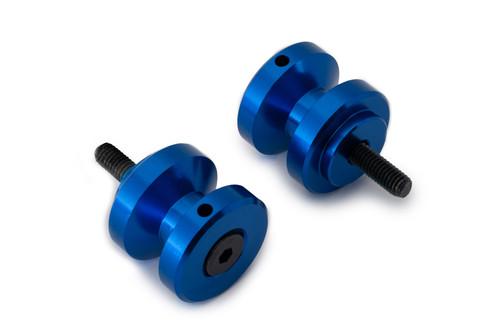AS3 PERFORMANCE ALUMINIUM PADDOCK STAND BOBBINS (M6 X 1.00) BLUE