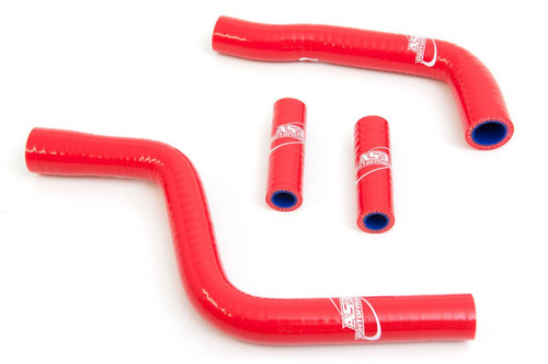 FANTIC XX 125 XE 125 2021 AS3 PERFORMANCE SILICONE RADIATOR HOSES RED