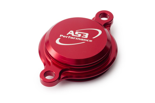 FANTIC XEF 250 2021 AS3 PERFORMANCE OIL FILTER CAP COVER RED