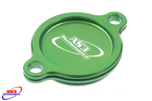 KAWASAKI KXF KX-F 250 2004-2020 OIL FILTER CAP COVER GREEN