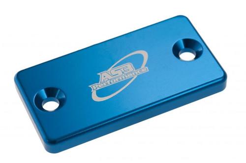 KAWASAKI KX  KXF KDX KLX 65 80 85 100 125 200 220 250 300 450 1993-2020 FRONT BRAKE RESERVOIR COVER BLUE