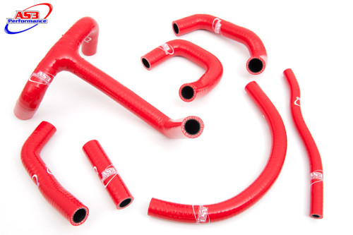 KTM 620 625 640 660 LC4 625  SMC HIGH PERFORMANCE SILICONE RADIATOR HOSES RED