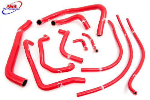HONDA CBR 929 RR FIREBLADE 2000-2001 HIGH PERFORMANCE SILICONE RADIATOR HOSES RED