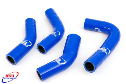 YAMAHA RD RZ 350 YPVS HIGH PERFORMANCE SILICONE RADIATOR HOSES BLUE