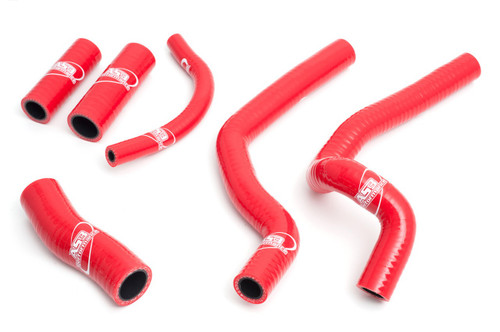 HONDA CR 500 1989-2001 HIGH PERFORMANCE SILICONE RADIATOR HOSES RED