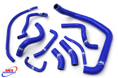 HONDA CBR 954 RR FIREBLADE 2002-2003 HIGH PERFORMANCE SILICONE RADIATOR HOSES BLUE