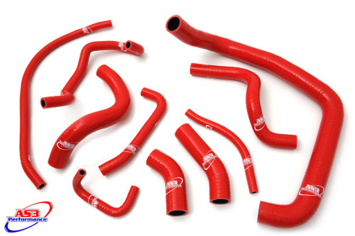 HONDA CBR 954 RR FIREBLADE 2002-2003 HIGH PERFORMANCE SILICONE RADIATOR HOSES RED