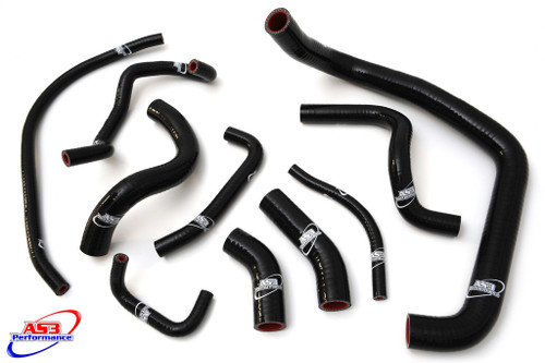 HONDA CBR 954 RR FIREBLADE 2002-2003 HIGH PERFORMANCE SILICONE RADIATOR HOSES BLACK