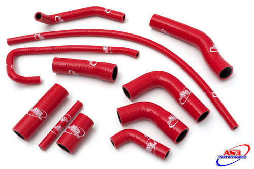 YAMAHA YZF 600 R6 2006-2019 HIGH PERFORMANCE SILICONE RADIATOR HOSES RED