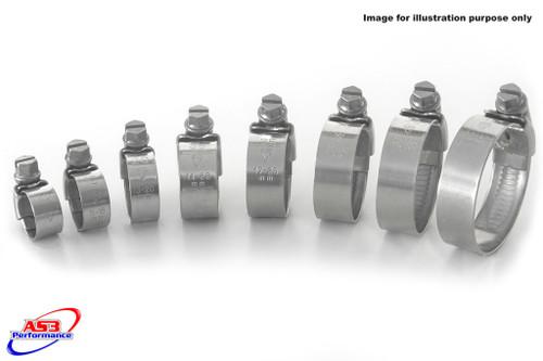 SUZUKI GSXR 600 750 2011-2020 STAINLESS STEEL RADIATOR HOSE CLIPS CLIP KIT