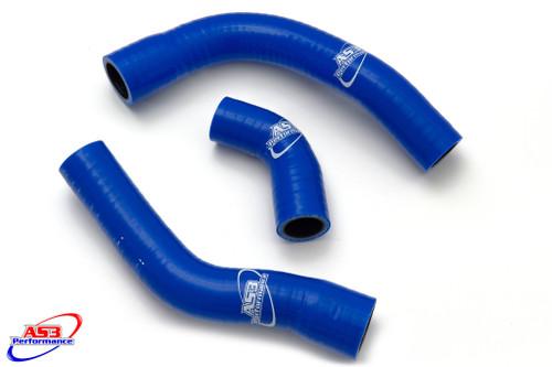 YAMAHA TDM 900 2002-2010 HIGH PERFORMANCE SILICONE RADIATOR HOSES BLUE