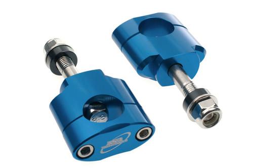 HONDA CR CRF 125 250 450 28.6MM OVERSIZE FAT BAR HANDLEBAR MOUNTS CLAMPS (12MM) BLUE