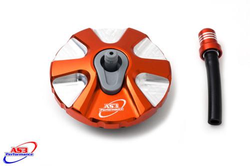 KTM 65 SX 2009-2020 125 150 250 350 450 SX SXF 2007-2012 300 500 EXC EXC-F 2007-2020 ALUMINIUM PETROL FUEL GAS CAP ORANGE