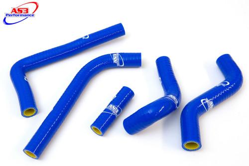 SUZUKI RMX 450 Z 2010-2019 AS3 PERFORMANCE SILICONE RADIATOR HOSES BLUE