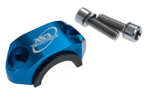 HONDA CR CRF XR 85 125 150 250 450 500 ROTATING CLUTCH BRAKE CYLINDER BAR CLAMP BLUE
