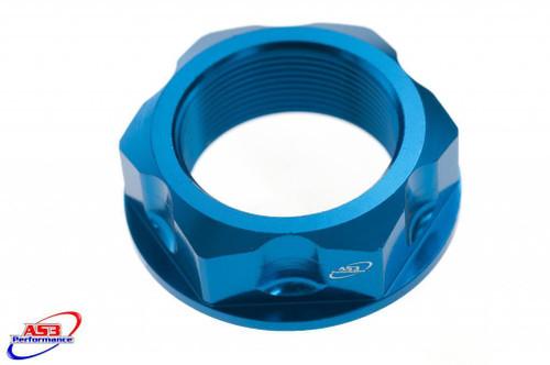 HONDA CR 125 250 2001-2008 CRF 250 450 R X RX 2004-2020 HEADSTOCK STEERING STEM NUT BLUE