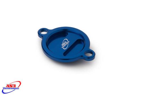 HUSABERG FE 250 350 2013-2014 ALUMINIUM OIL FILTER CAP COVER BLUE