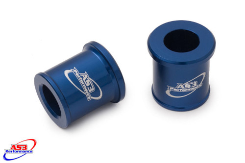 YAMAHA YZ 80 1993-2001 YZ 85 2002-2018 FRONT WHEEL SPACERS BLUE