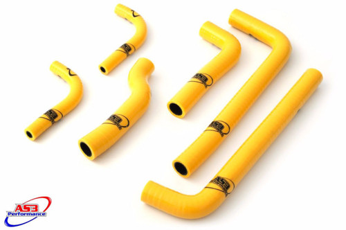 GAS GAS EC 200 250 300 1999-2006 HIGH PERFORMANCE SILICONE RADIATOR HOSES YELLOW