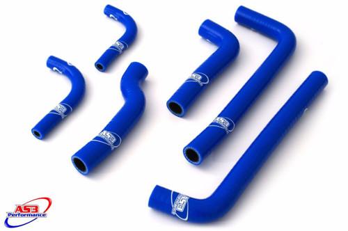 GAS GAS EC 200 250 300 1999-2006 HIGH PERFORMANCE SILICONE RADIATOR HOSES BLUE