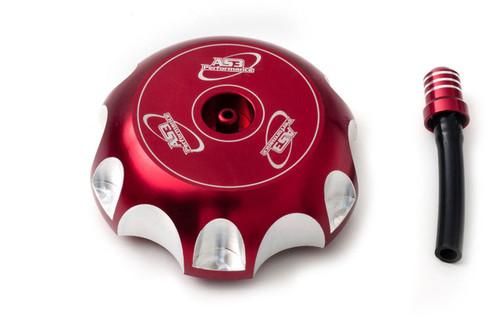 HONDA TRX 400 EX 99-10 TRX 450 R 04-16 BILLET ALUMINIUM PETROL FUEL GAS CAP RED