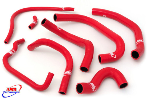 HONDA CBR 900 RR FIREBLADE 1996-1997 HIGH PERFORMANCE SILICONE RADIATOR HOSES RED