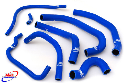 HONDA CBR 900 RR FIREBLADE 1996-1997 HIGH PERFORMANCE SILICONE RADIATOR HOSES BLUE