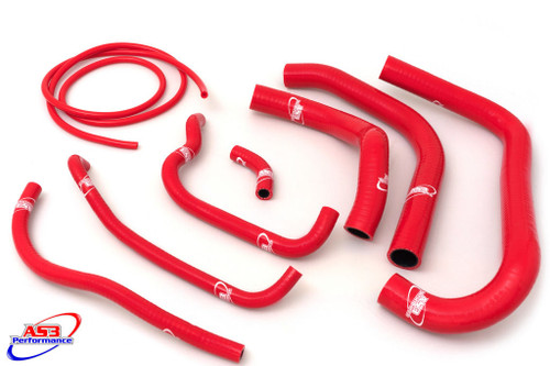HONDA CBR 900 RR FIREBLADE 1994-1995 HIGH PERFORMANCE SILICONE RADIATOR HOSES RED