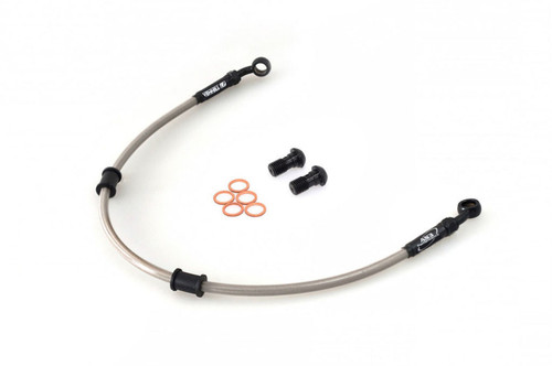 APRILIA PEGASO 650 1993-1996 AS3 VENHILL BRAIDED FRONT BRAKE LINE HOSE SILVER
