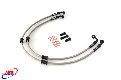 DUCATI 748 BIPOSTO STRADA 1995-1998 AS3 VENHILL BRAIDED FRONT BRAKE LINES HOSES SILVER