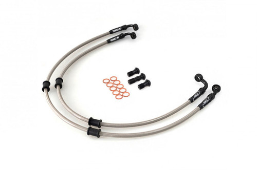 APRILIA RSV 1000 TUONO FIGHTER 03-07 AS3 VENHILL BRAIDED FRONT BRAKE LINES HOSES SILVER