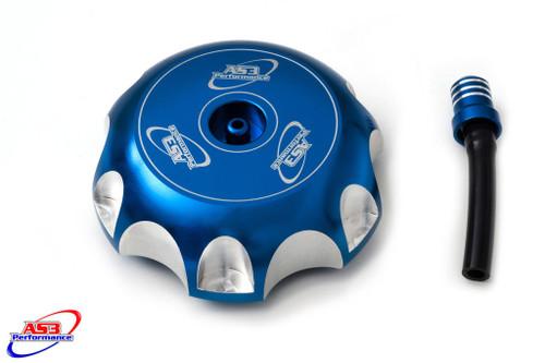 KAWASAKI KFX 400 2003-2007 BILET ALUMINIUM PETROL FUEL GAS CAP BLUE