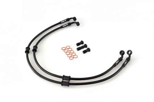 APRILIA RSV 1000 TUONO FIGHTER 03-07 AS3 VENHILL BRAIDED FRONT BRAKE LINES HOSES BLACK