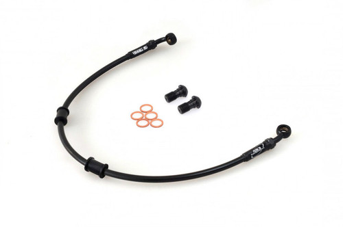 APRILIA PEGASO 650 1993-1996 AS3 VENHILL BRAIDED FRONT BRAKE LINE HOSE BLACK