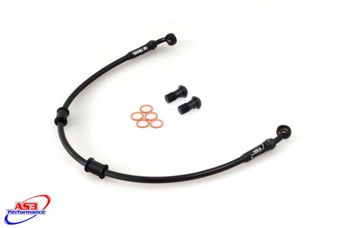 HONDA CB 500 (BREMBO) 1998-2000 AS3 VENHILL BRAIDED REAR BRAKE LINE HOSE BLACK