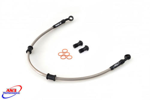HONDA CBR 1000 RR FIREBLADE 2004-2005 AS3 VENHILL BRAIDED REAR BRAKE LINE HOSE SILVER