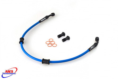 HONDA CB 600 F S HORNET 2001-2003 AS3 VENHILL BRAIDED REAR BRAKE LINE HOSE BLUE