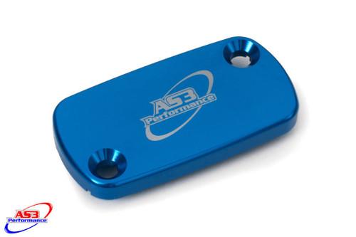 HONDA CR CRF 80 85 125 150 250 450 1992-2020 FRONT BRAKE RESERVOIR COVER BLUE