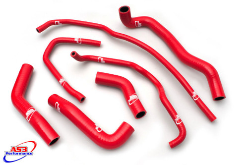 TRIUMPH 675 DAYTONA 2013-2018 HIGH PERFORMANCE SILICONE RADIATOR HOSES RED