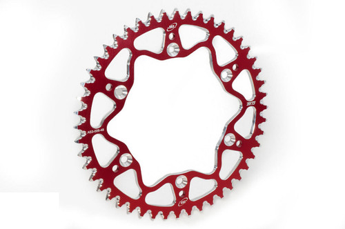 GAS GAS EC XC 125 200 250 300 1999-2020 AS3 7075 ALUMINIUM REAR SPROCKET 52T RED